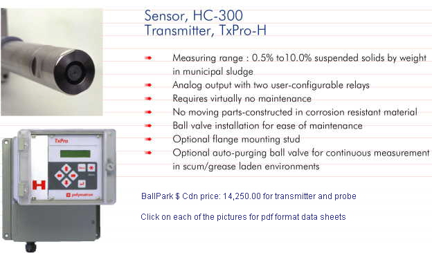 BallPark $ Cdn price: 14,250.00 for transmitter and probe
